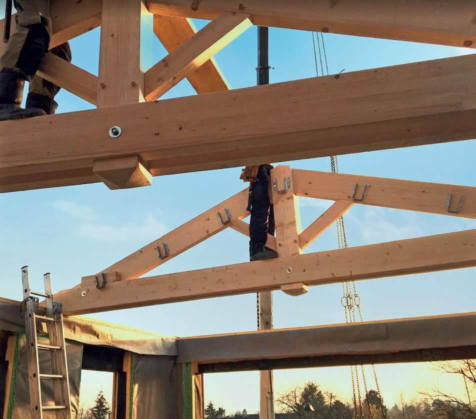 Etape montage maison bois : charpente