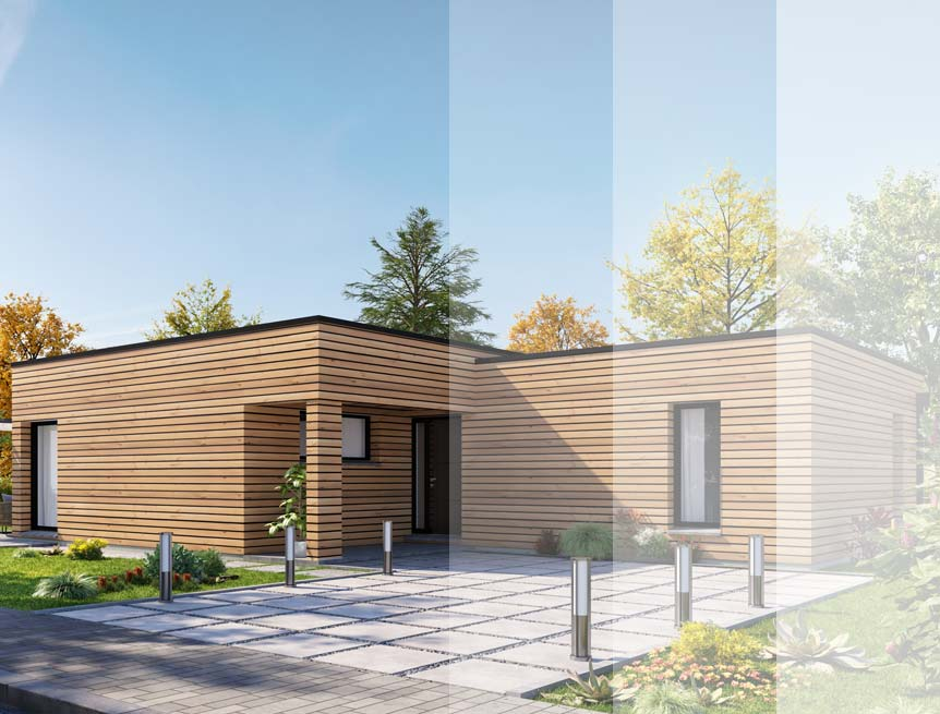 Modèles et plans de maison ossature bois cubique Ma Maison Construction Bois
