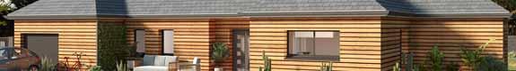 Modèles et plans de maison ossature bois plain-pied Ma Maison Construction Bois