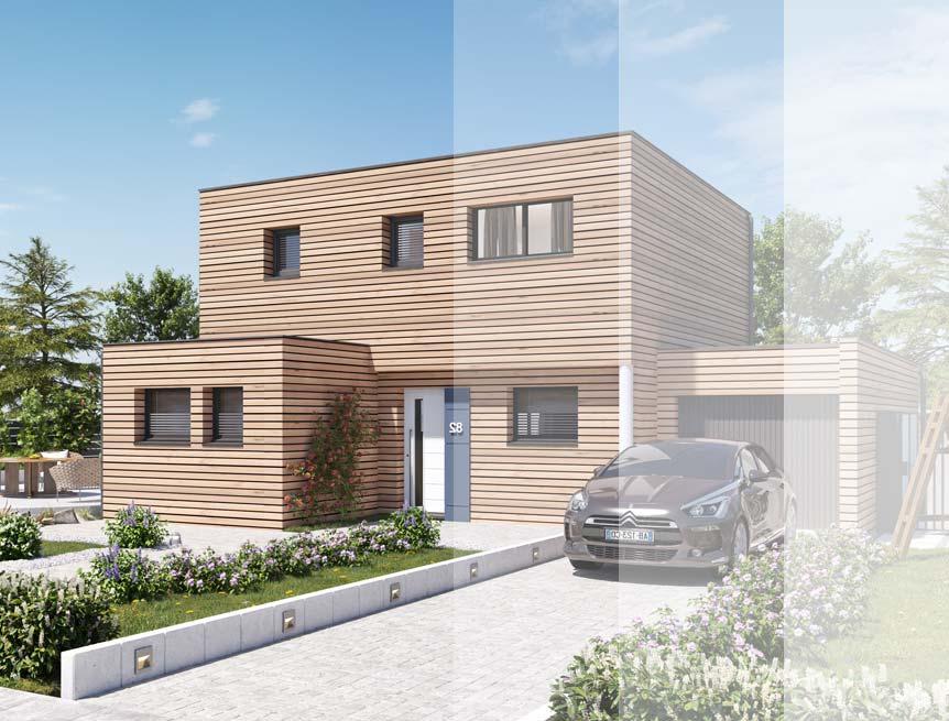 Modèles et plans de maison ossature bois R+1 Ma Maison Construction Bois