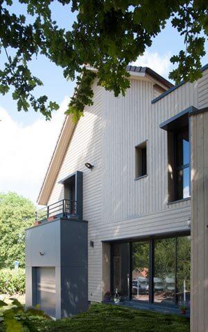 Maison ossature bois façade