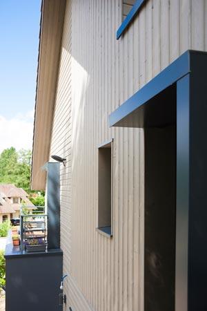 Maison ossature bois pignon fenêtre