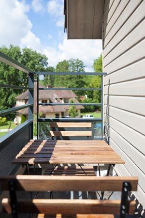 Maison ossature bois terrasse