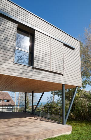 Maison ossature bois surélevée